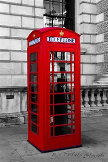 London Red Telephone Box- world famous icon